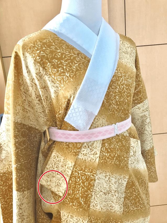 左の衿も同じ様に直します