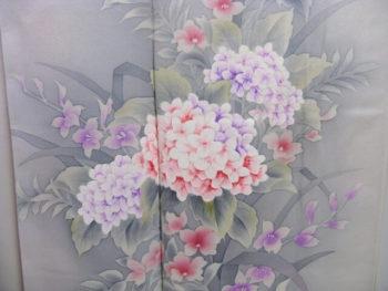 紫陽花(あじさい)の着物