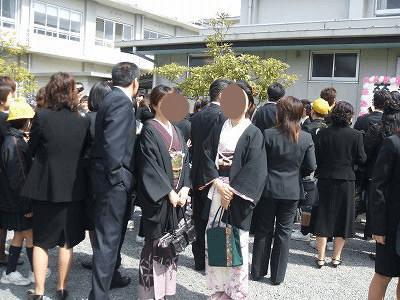 古着の黒羽織の卒業式や入学式