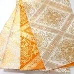 袋帯とは、表面に金糸や銀糸をほどこした格調高い柄