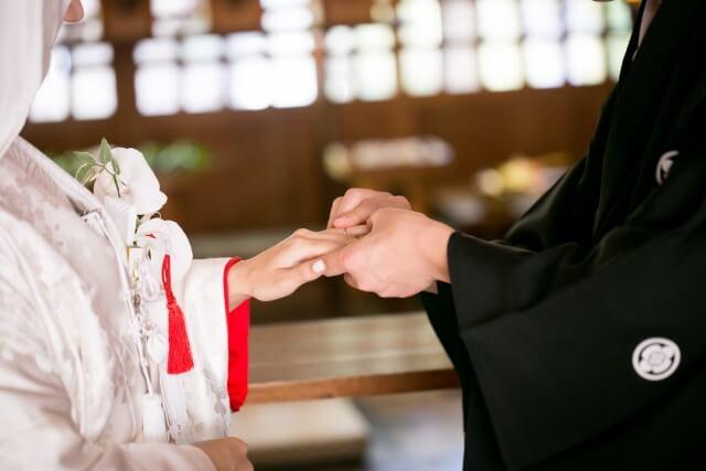 結婚式の着物