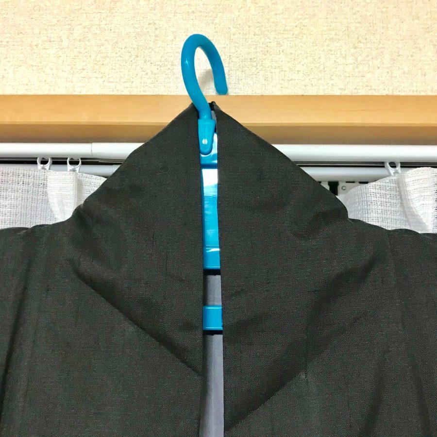 着物をハンガーに掛ける時の衿