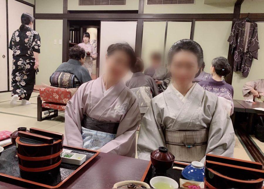 着付け教室の初詣イベント食事会②