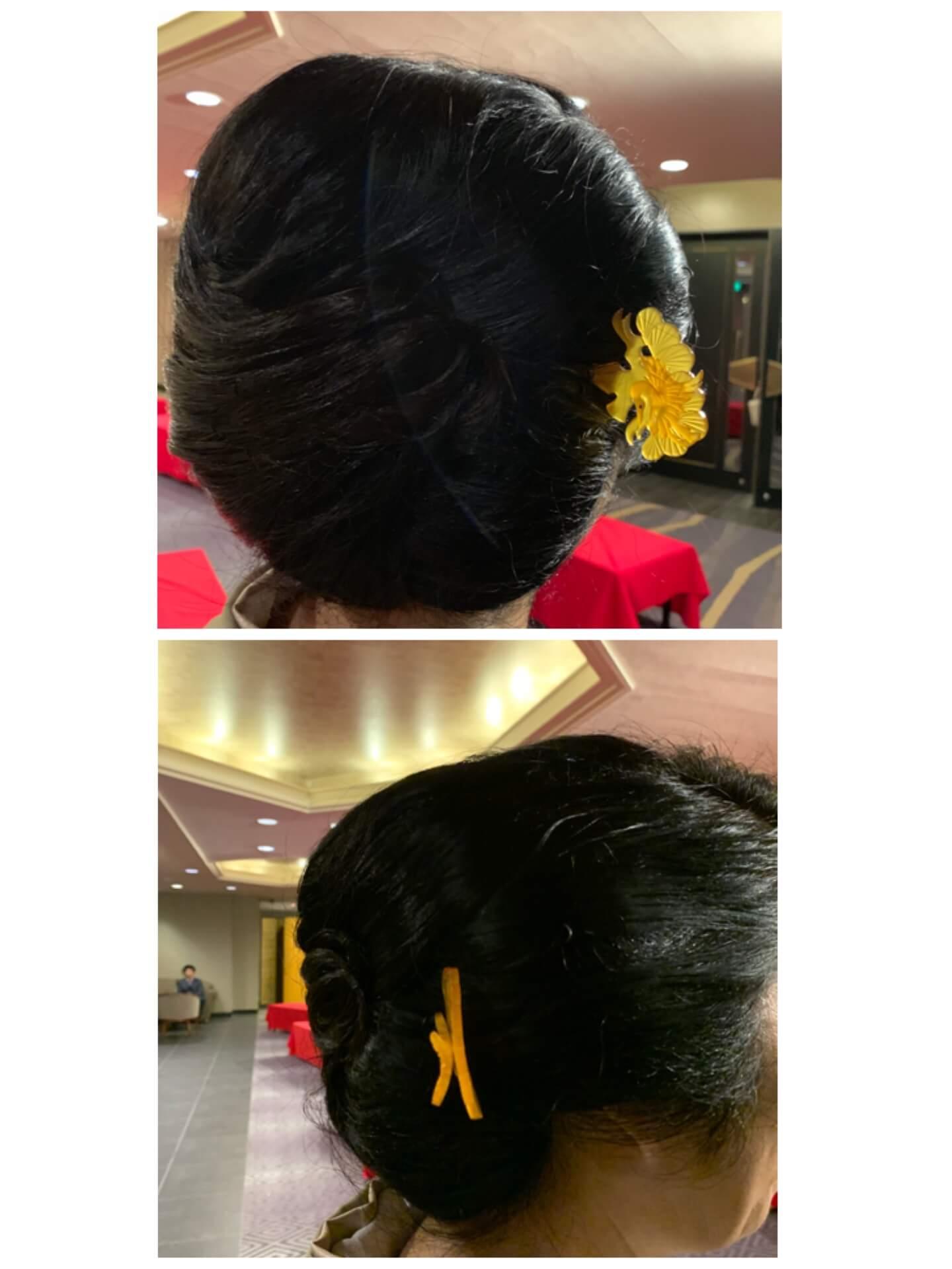 きもの文化検定パーティー髪型9