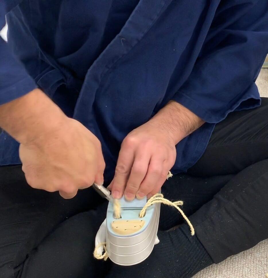 草履のすげ替えの方法