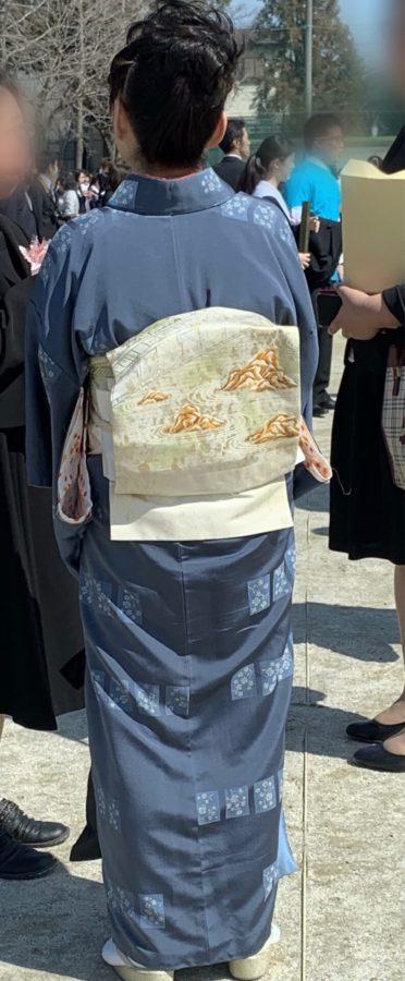 卒業式小紋