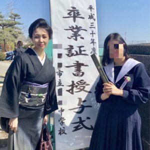 卒業式母親着物江戸小紋