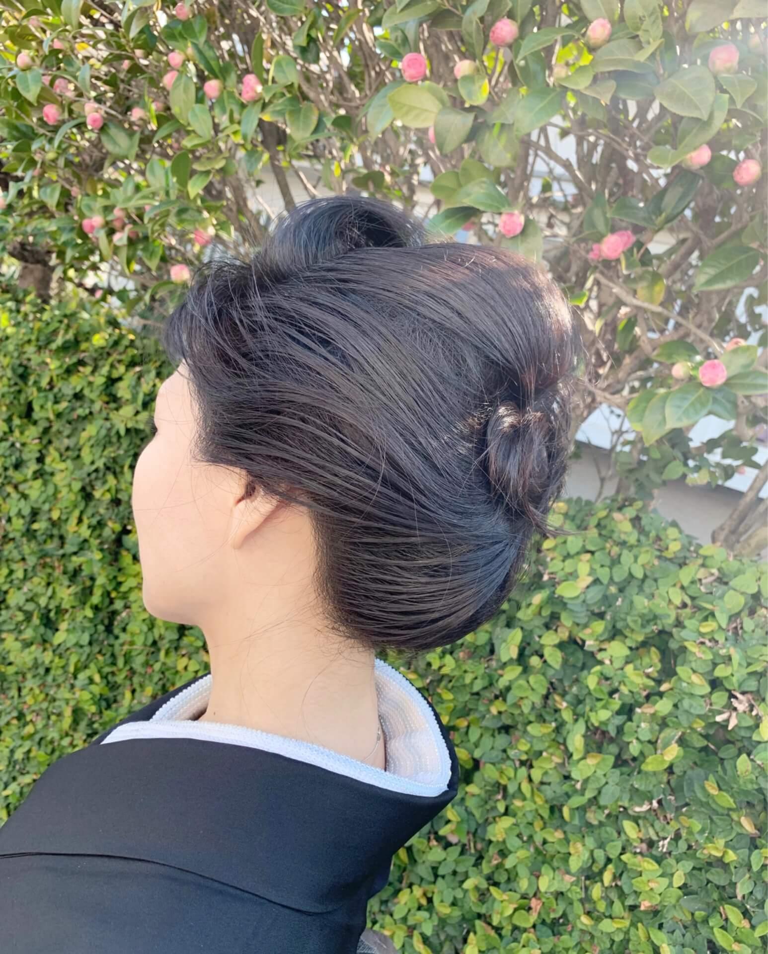 卒業式着物髪型左