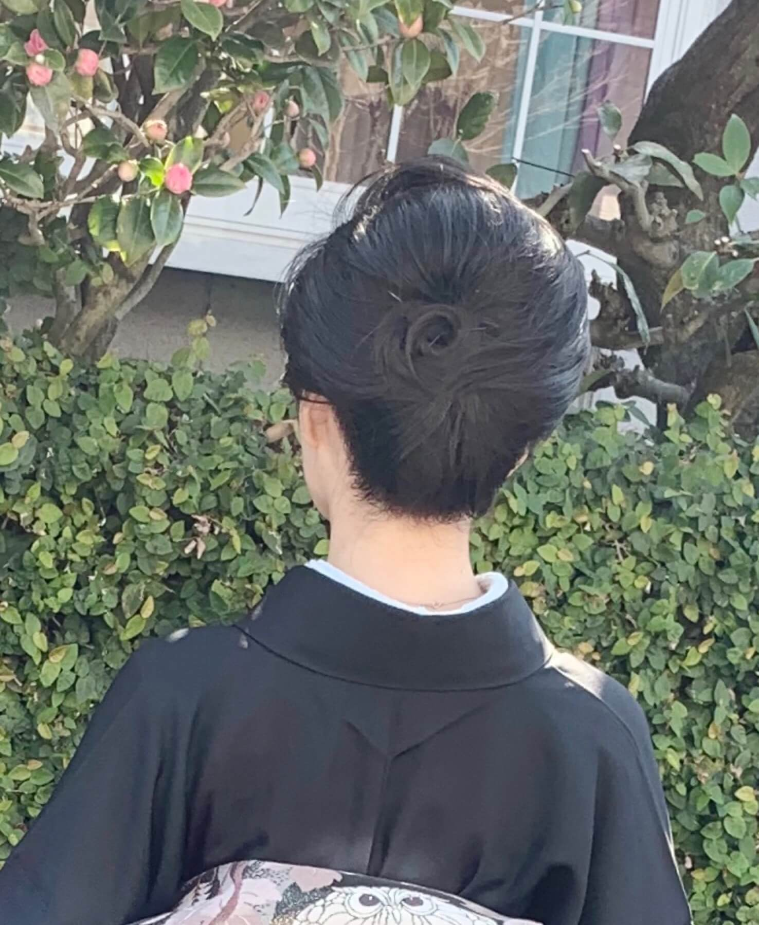 卒業式着物髪型後