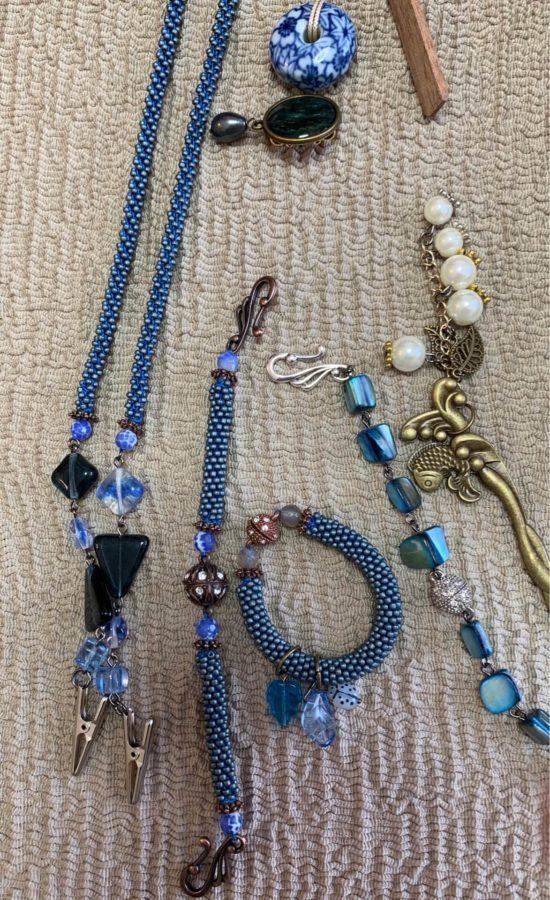 着物の小物青色シリーズかわいい激安