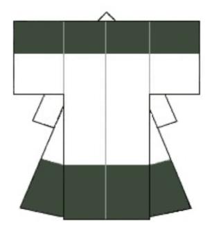 着物の肩裾模様