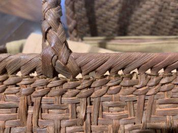 国産山葡萄かごバッグ編み方