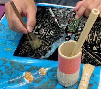 摺箔の摺り方