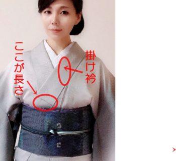 着物の掛衿の長さ