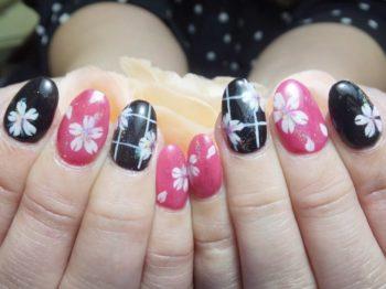 着物ネイル桜和柄