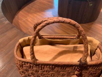 国産山葡萄かごバッグ持ち手の形