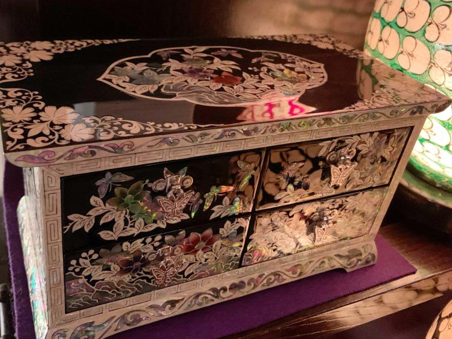 韓国の螺鈿細工伝統工芸品小物入れ