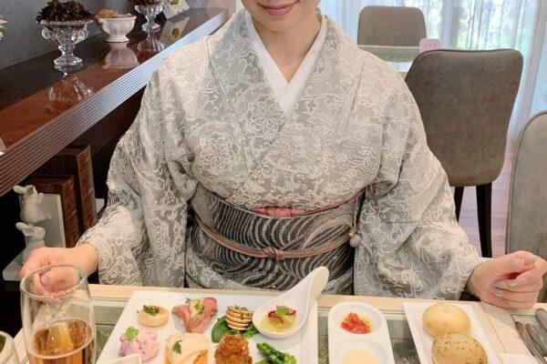 山岡古都小紋コーディネート
