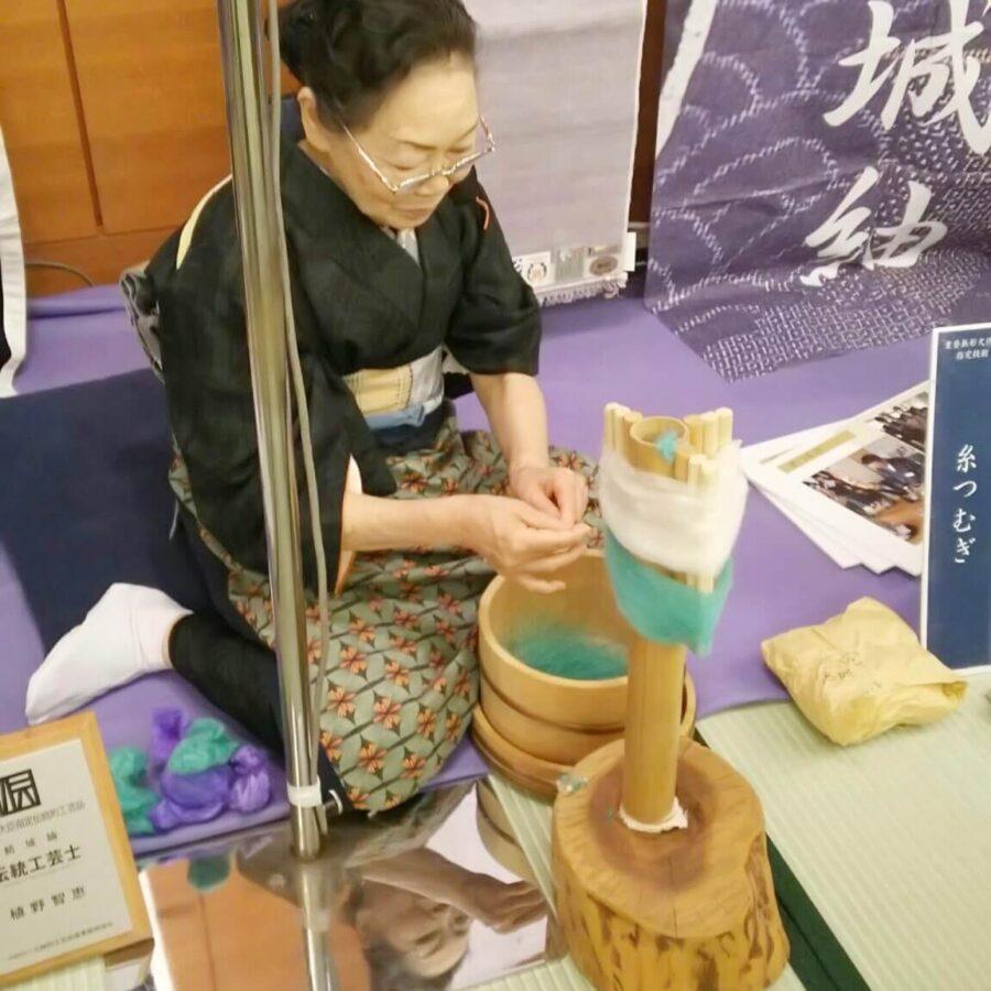糸紡ぎ結城紬手引き